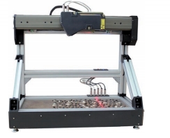 3D Laser measurement machine designed for non-contact measurement of geometrical parameters of objects, specifically sunflower seeds